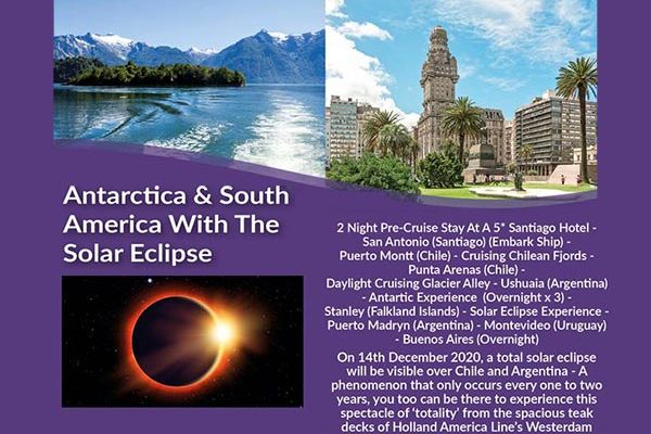 antartic with solar eclipse
