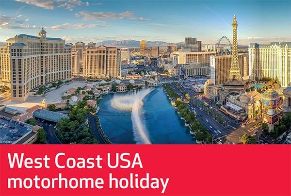 West Coast USA Motorhome Holiday – Jun21 – 10 Nights – £1039pp