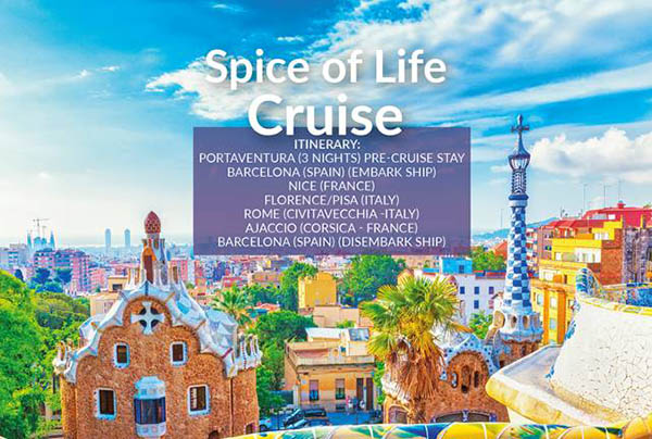 Spice of Life Cruise – 9th Jul21 – £999pp