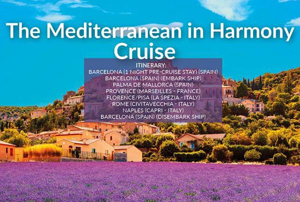The Mediterranean in Harmony Cruise – July21 – £929pp
