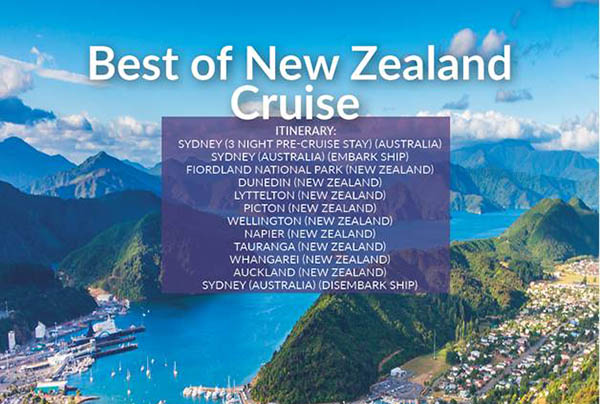 Best of New Zealand Cruise – Nov21 – £2299pp