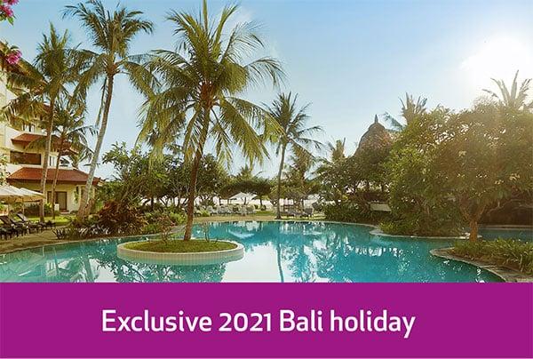 Exclusive 2021 Bali holiday
