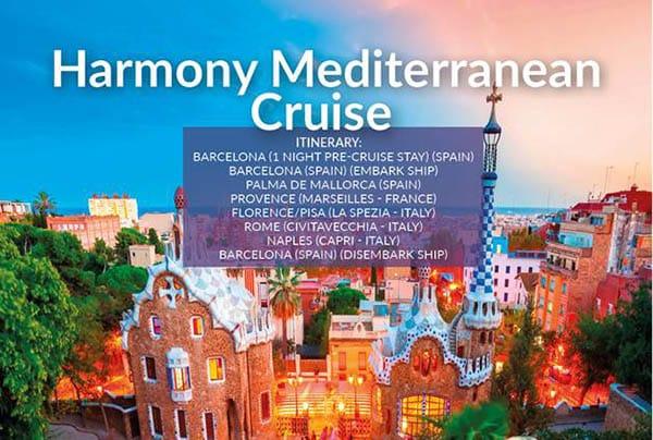 Harmony Mediterranean Cruise – July21 – £899pp
