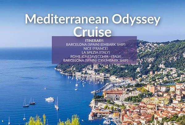 Mediterranean Odyssey Cruise – April21 – £629pp